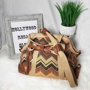 BDG large canvas chevron satchel bag purse